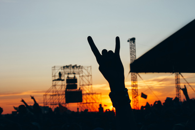 Image of people at an outdoor concert