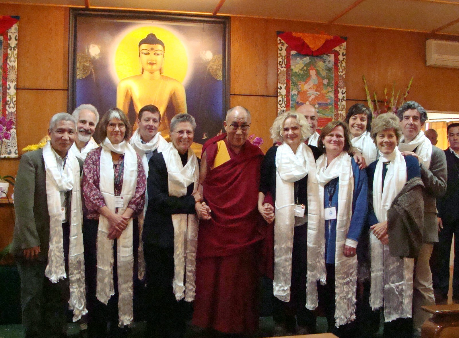 Dr. Nora Volkow with the Dalai Lama and other participants in the Mind and Life Conference on Craving, Desire and Addiction in Dharamsala, India.