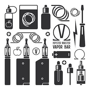Illustration of e-cig devices