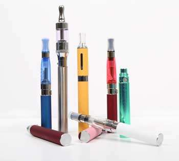 Photo of e-cigs showing their variety