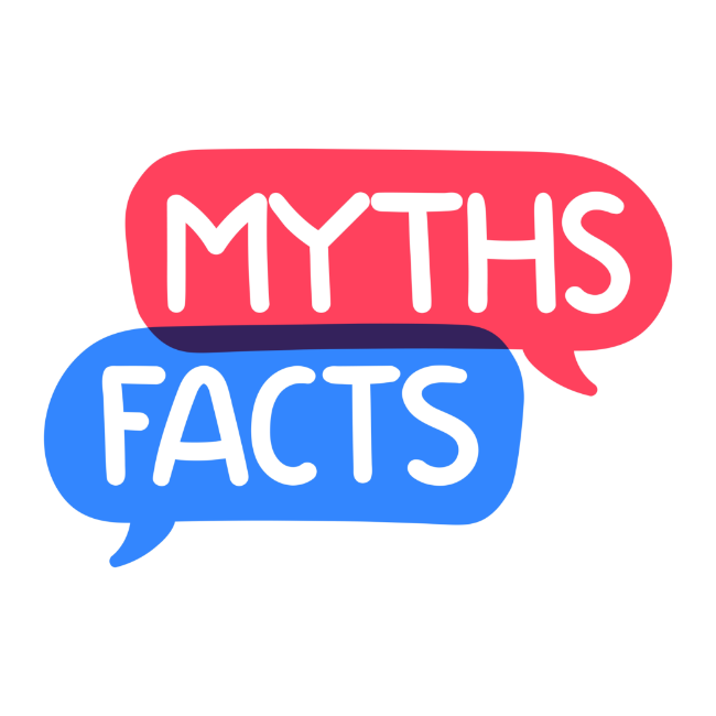 Word clouds with Myths and Facts