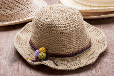 Photo of a hat made from hemp
