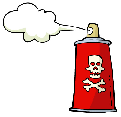 Illustration of a spray can