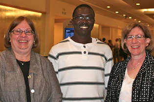 From left, Judy McCormally, NIDA International Program Technical Consultant; Bola Ola, Nigeria; and NIDA International Program Associate Director Dale Weiss.