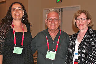 From left, Suzan Ben Ezra and Eitan Gorni, Israel; and NIDA International Program Associate Director Dale Weiss.