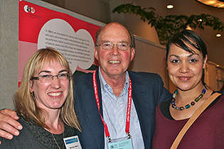 From left, Bronwyn Myers, South Africa; Ken Winters, University of Minnesota; and Petal Petersen, South Africa.