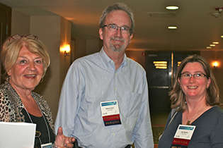 Patricia Needle; NIDA International Program Director Steven W. Gust, Ph.D.; and Joni Rutter, Ph.D., Director, NIDA Division of Basic Neuroscience and Behavioral Research