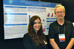 Maria Demarco, CICAD, and NIDA International Program Director Steven W. Gust, Ph.D.