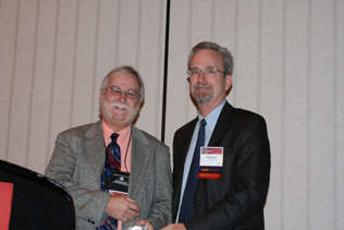 James 'Jim' Anthony, awarded the 2009 Award of Excellence- Mentoring with Steve Gust
