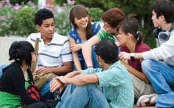 photo of group of teens talking