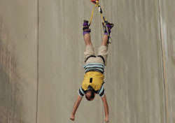 photo of a bungee jumper