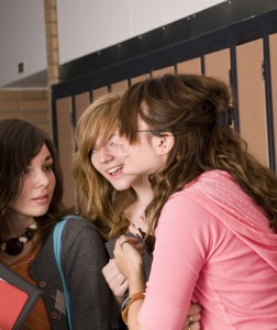 Girls talking in a small group