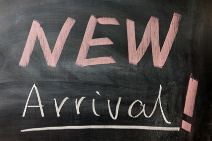 Chalkboard that says New Arrival
