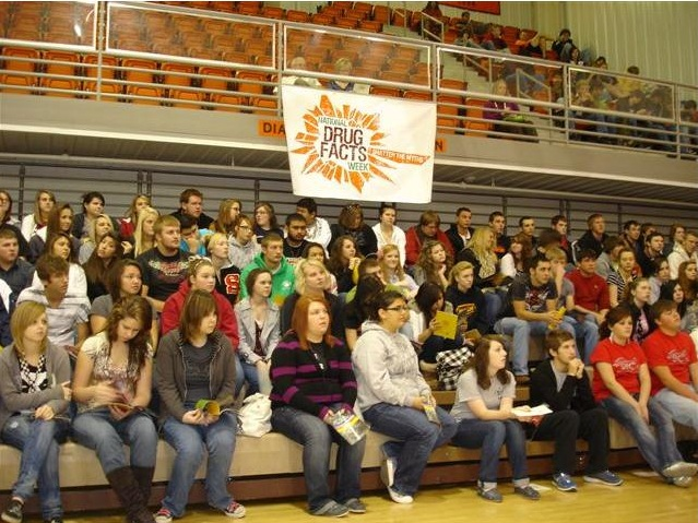 A group of students having a NDAFW event