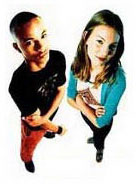 Picture of a girl and boy standing together