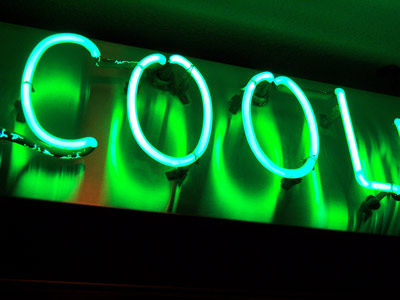 Neon sign that says Cool