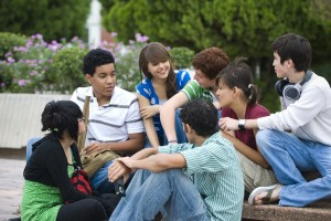 A group of kids sitting in a circle