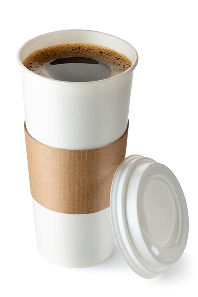 Image of a full coffee cup and lid