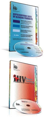 Covers of Buprenorphine and HIV Testing products