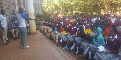 "More than 250 Kenyan high school students used NIDA ""Shatter the Myths"" booklets to learn the scientific facts about drug and alcohol use during the Kenyan Living Clean Society's National Drug and Alcohol Facts Week events."