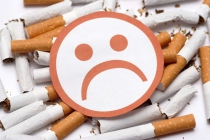 Unhappy face on cigarettes