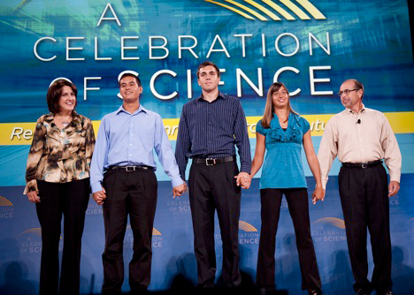 A group of people at the Celebration of Science